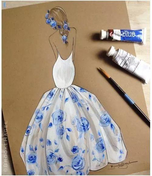 婚纱礼服效果图该怎么画?
